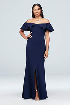 Long Sheath Off the Shoulder Formal Dresses Dress - Morgan and Co