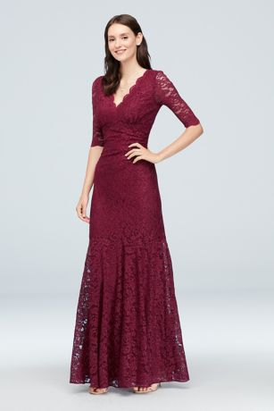Long Mermaid/ Trumpet 3/4 Sleeves Dress - Nightway