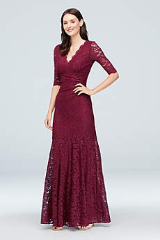 Long Mermaid/ Trumpet 3/4 Sleeves Formal Dresses Dress - Nightway
