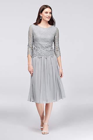 Tea Length Dresses | David\'s Bridal