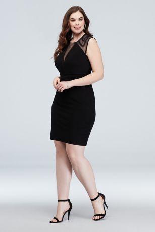 Short Sheath Cap Sleeves Dress - Morgan and Co
