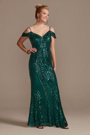 Long Sheath Off the Shoulder Dress - Nightway