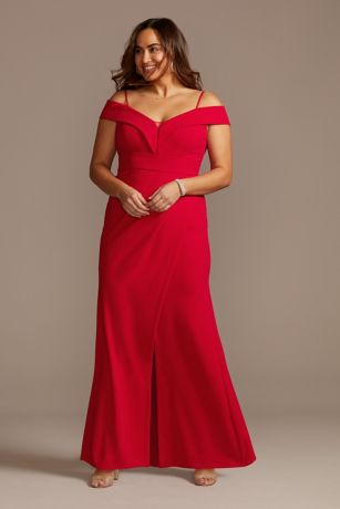 Long Sheath Off the Shoulder Dress - Morgan and Co