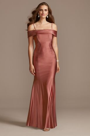 Long Mermaid/Trumpet Off the Shoulder Dress - Morgan and Co