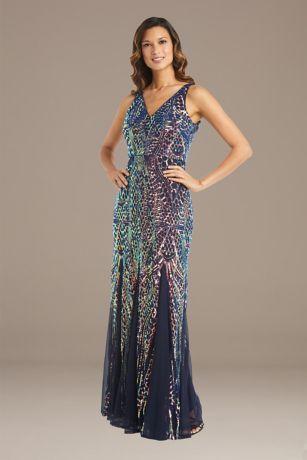 Long Mermaid / Trumpet Tank Dress - RM Richards