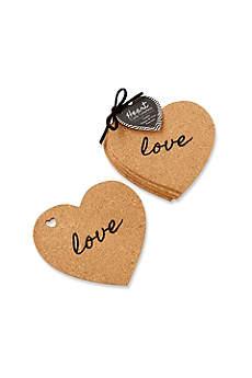 Heart Cork Coasters Set of 4