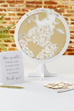 Globe Wedding Guest Book Alternative