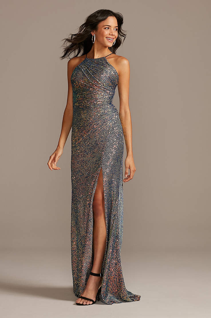 Long Prom Dress Formal Dress Long Dress Party Dress Evening Dress Floor Length Open Back Dress Silver Maxi Dress Bridesmaid Dress