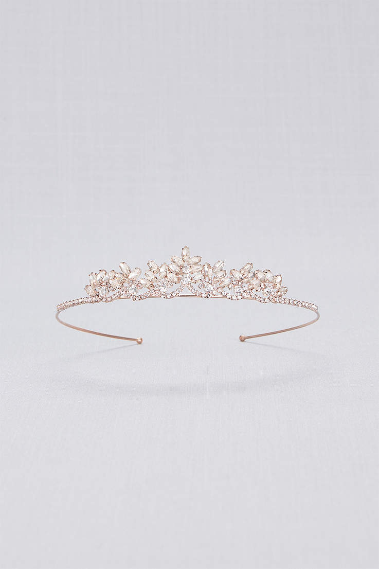 7dd8f0a3e71 Rose Gold Crystal Flower Girl Tiara