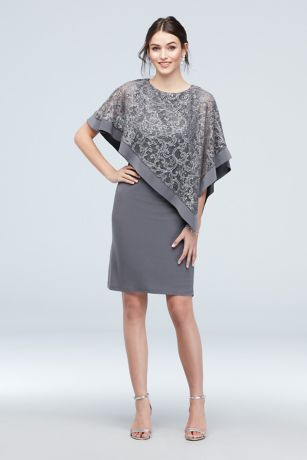 Short Sheath Capelet Dress - RM Richards