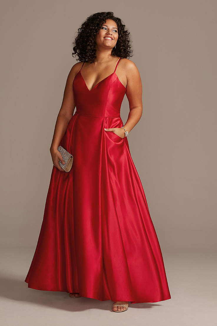 Red Plus Size Prom Dress