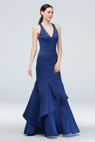 Long Mermaid/ Trumpet Halter Dress - Xscape
