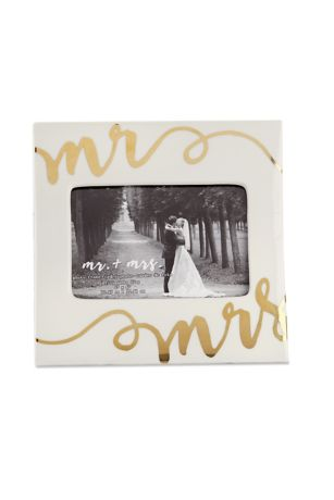 Mr. and Mrs. Ceramic Picture Frame