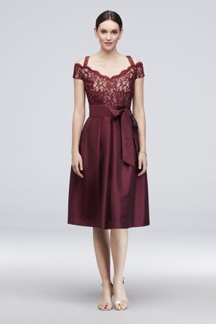 Short Ballgown Off the Shoulder Dress - RM Richards