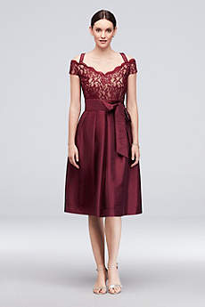 Short Ballgown Off the Shoulder Cocktail and Party Dress - RM Richards