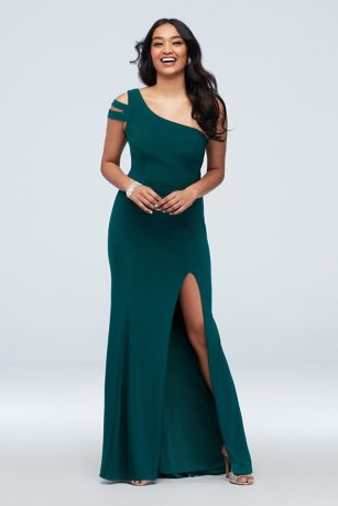 Long Sheath One Shoulder Dress - Xscape