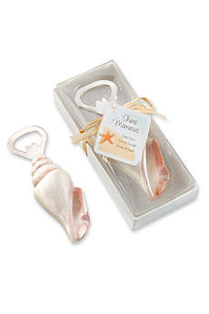 Sea Shell Shaped Bottle Opener with Tag