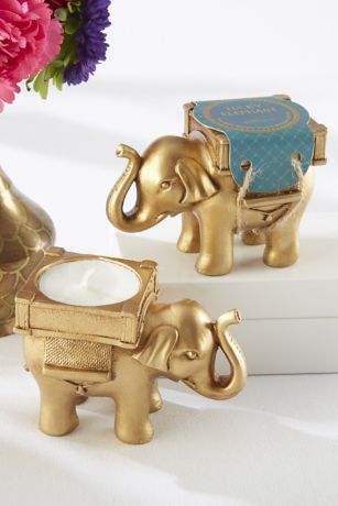 Golden Elephant Tealight Holders