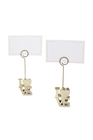 LOVE Gold Place Card Holders Set of 6