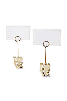 LOVE Gold Place Card Holders Set of 6 25070GD