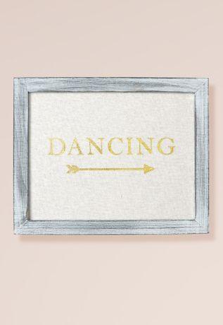 Gold Foil on Linen Dancing Sign Decoration