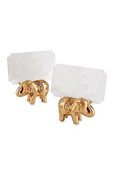 Lucky Golden Elephant Place Card Holders Set of 6 25244GD