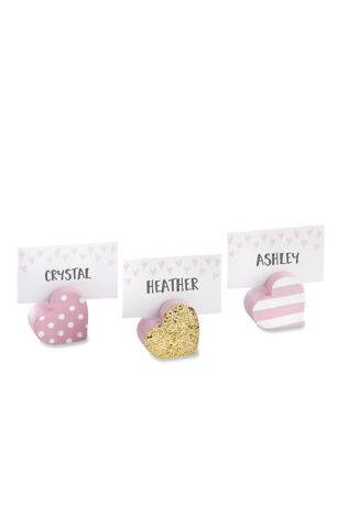 Sweet Heart Place Card Holders Set of 6