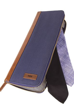 "Personalized Men""s Travel Tie Case"