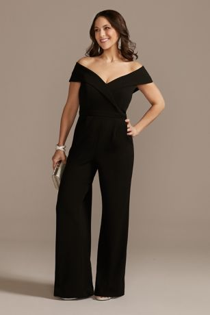 Long Jumpsuit Off the Shoulder Dress - Xscape