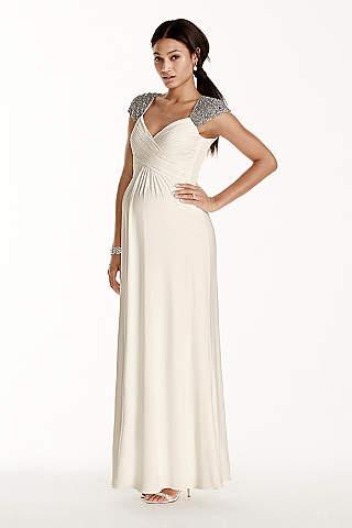 Maternity wedding dresses gowns davids bridal long sheath beach wedding dress db studio junglespirit Gallery