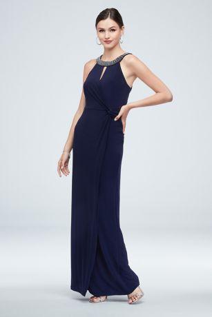 Long Sheath Halter Dress - Marina