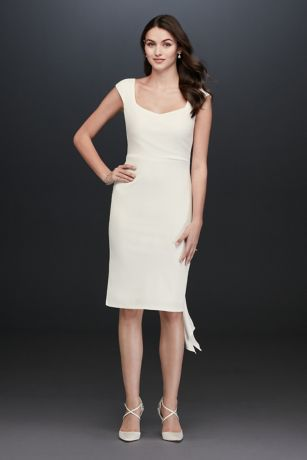 Short Sheath Wedding Dress - Jump