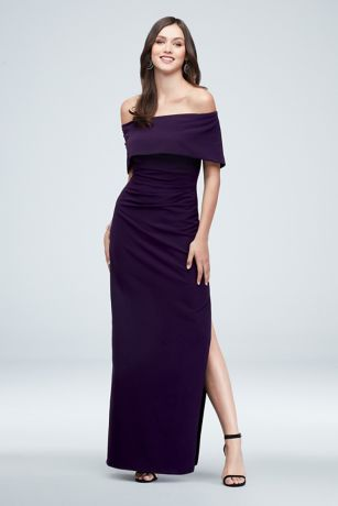 Long Sheath Off the Shoulder Dress - Marina