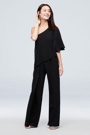 Long Jumpsuit One Shoulder Dress - Marina