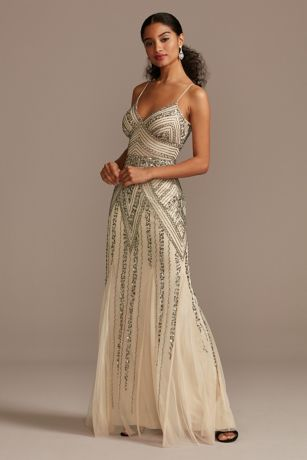 Long Mermaid/Trumpet Spaghetti Strap Dress - Marina