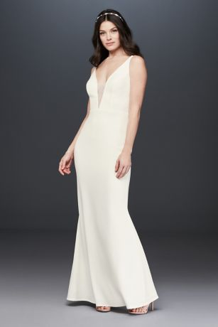 Long Sheath Wedding Dress - Marina