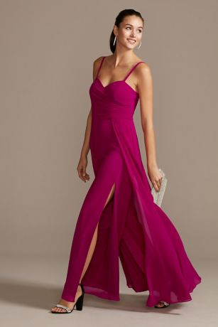 Long Jumpsuit Spaghetti Strap Dress - Marina