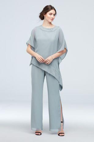 Long Jumpsuit Capelet Dress - Le Bos