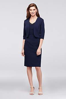 Short A-Line Jacket Formal Dresses Dress - Le Bos