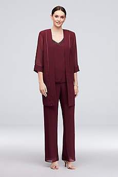 Long Jumpsuit Jacket Cocktail and Party Dress - Le Bos