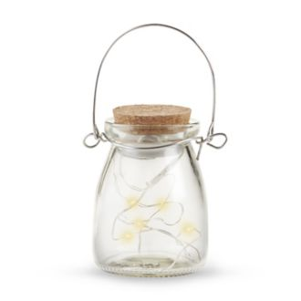 Hanging Clear Jar With Fairy Lights Set of 4