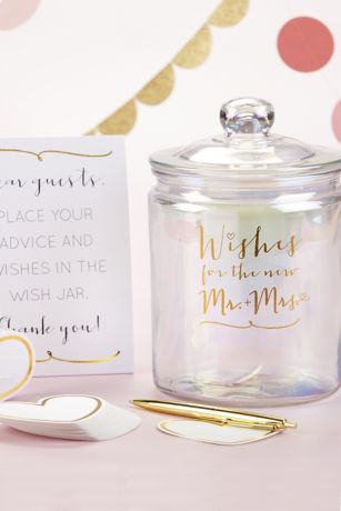 Wishes for the New Mr and Mrs Jar with Heart Cards