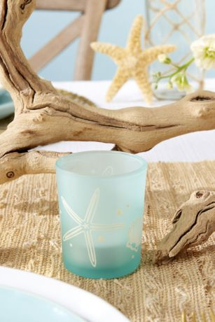 Beach Party Frosted Glass Votive Set
