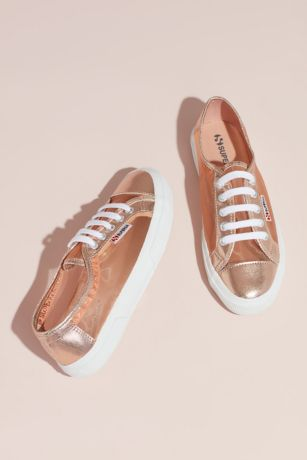 Superga Pink Sneakers and Casual (Superga Cotu 2750 Metallic Mesh Sneakers)