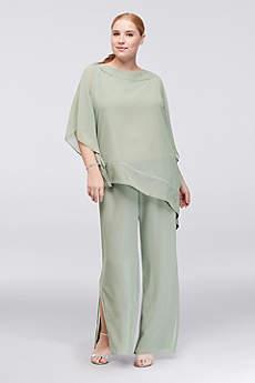 Long Jumpsuit Capelet Formal Dresses Dress - Le Bos
