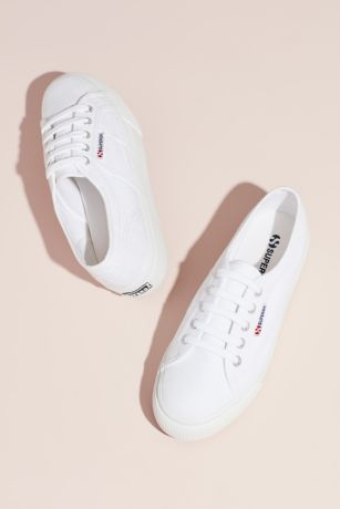 Superga White Sneakers and Casual (Superga Acotw 2790 Canvas Platform Sneakers)