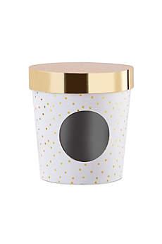 Ice Cream Favor Box - Gold Dot Set of 12