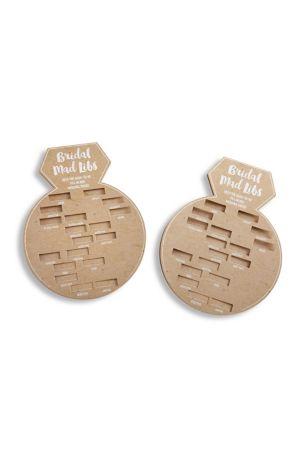 Bridal Shower Word Game Card Set