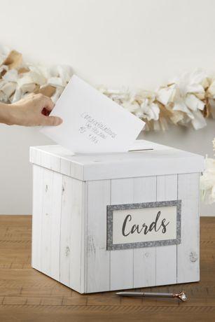Rustic Wood-Look Pop-Up Card Box