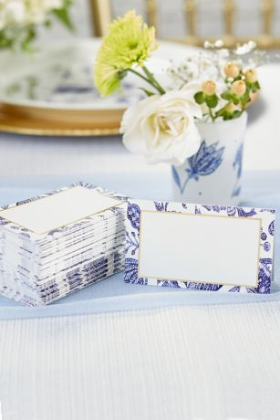 Blue Willow Tent Place Card Set of 100